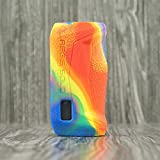 Rayley Texture Silicone Case for GeekVape aegis Solo 100W Box MOD Vape Cover Rubber Skin Warp Sticker Sleeve Shell Hull Damper Vape Gel (Multi)