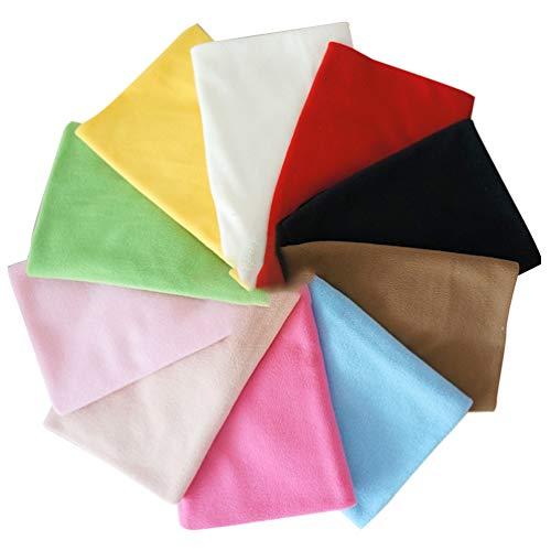 Artibetter Tissu Polaire Polaire Anti Boulochage Tissu Polaire Doublure Tissu Tissu Doux Matériel de Couture Bricolage Artisanat 10 Pcs