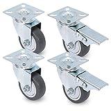 Juego de rodillos con placa atornillable – Desenrollado sin dejar rastros – hasta 60 kg (por rollo) – Ruedas de transporte / ruedas de acero (50 mm)