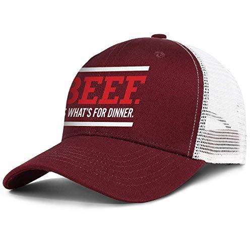 Beef.-It's-What's-for-Dinner Baseball Hats for Men Women Novelty Mesh Trucker Cap Adjustable