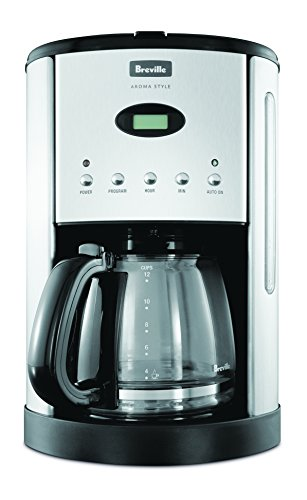 Breville Aroma Style Electronic Coffee Maker, Black BCM600BLK