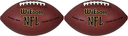 Wilson NFL Super Grip Composite Junior Football-2 Pack