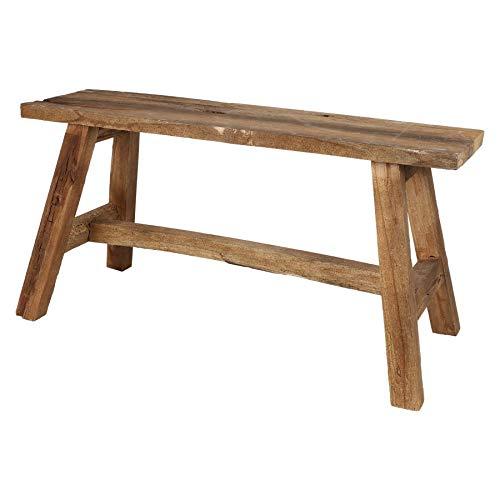 Banco rústico de madera vieja de 90 x 24,5 cm