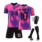 GJMYQ Trikot 4-teiliges Set Nr. 7 Mbappé 10# Neymar 11# Di Maria 20-21 Unisex-T-Shirt-Set der Champions League
