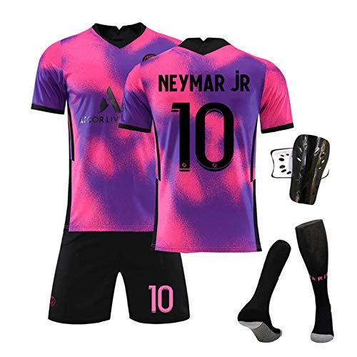 GJMYQ Paris Saint-Germain Trikot 4-teiliges Set Nr. 7 Mbappé 10# Neymar 11# Di Maria 20-21 Unisex-T-Shirt-Set der Champions League