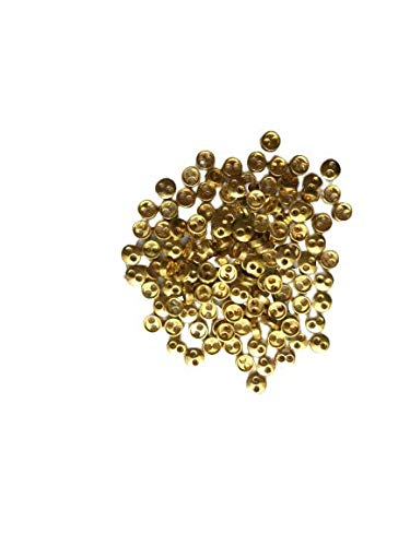 金色丸ボタン約3mm 80個 極小 小さめ ハンドメイド材料 デコ材料 ドール用 人形用 ミニチュア用