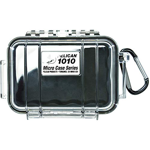 Pelican 1010 Micro Case with Clear Lid, Black