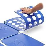 Relaxdays Faltbrett für Wäsche HBT ca. 0,5 x 70,5 x 59 cm mit Falt Butler Kleidung auf DIN A4 falten große Falthilfe platzsparender Wäschefalter Hemdenfalter, blau - 4