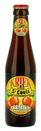 6 Flaschen St Louis Premium Kriek Lambic 0,25 l Bier, fruchtiges Kirschbier aus Belgien