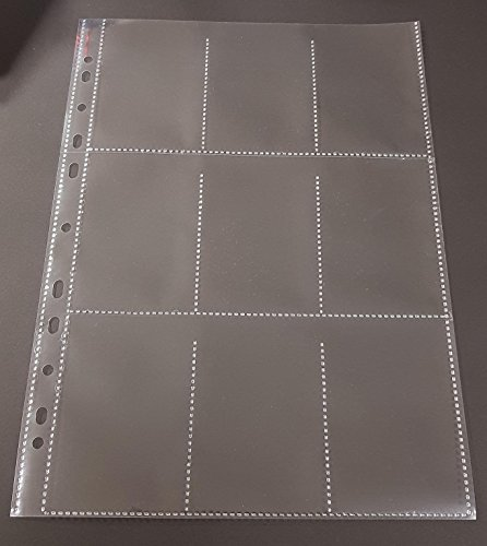 50x A4 Sammelhüllen, Prospekthüllen, Kartenhüllen, 120my, geteilt auf 9 Fächer (A8) recycelbar !