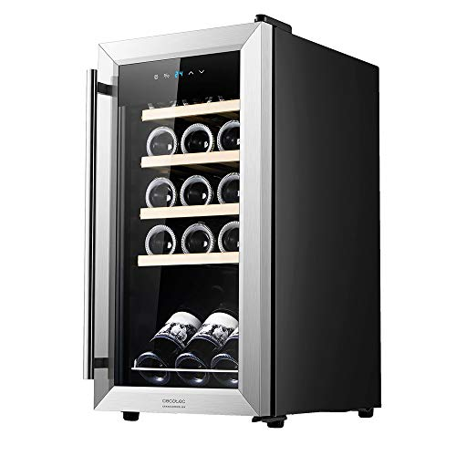 Cecotec Vinoteca GrandSommelier 15000 INOX Compressor. 15 Botellas, Compresor, Alto Rendimiento garantizado, Temperatura...