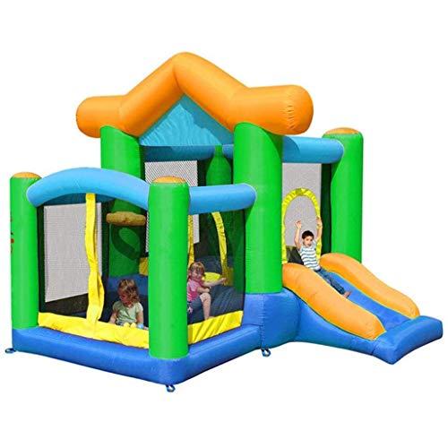 Castillo Hinchable, Material de PVC Bouncer Inflable Diapositiva de Salto con soplador Slide House Castillo de Salto para niños al Aire Libre