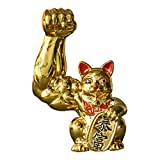 MagiDeal Estatuilla de Gato de la Suerte Dinero estatuilla de Gato de la Suerte estatuilla de la Estatua de Fengshui de Resina para la Riqueza