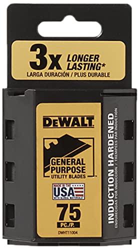 DEWALT Utility Blades, Heavy Duty, 75-Pack (DWHT11004L)