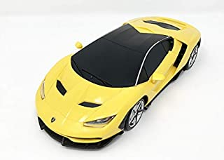 MZ 2017 Lamborghini Centenario Electric RC Car Radio Remote Control Vehicle Sport Racing Hobby Grade Licensed Model Car 1:24 Scale for Kids Adults (Yellow)