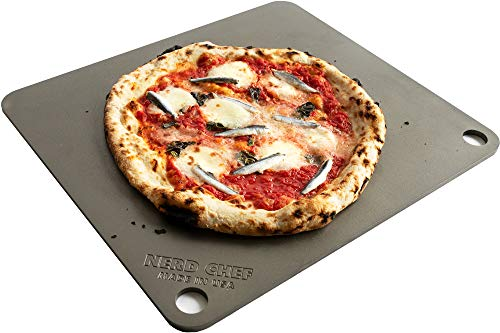 NerdChef Steel Stone - High-Performance Baking Surface for Pizza (14.5 x16  x1 4 ) - (.25  Thick - Standard)