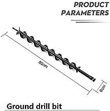 Broca de doble tierra de 800 mm de largo, brocas de taladro, broca de gasolina de tierra más fuerte para taladro de tierra, taladro de tierra para excavadora (diámetro:6cm, L:80cm)