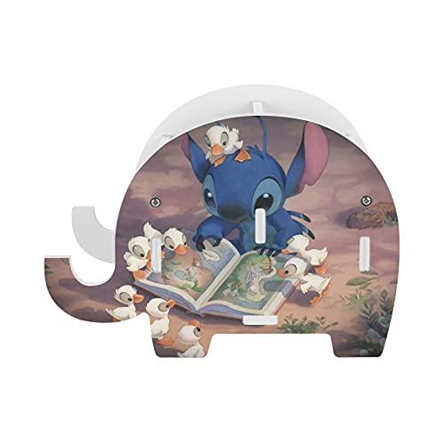 Lilo - Portalápices con diseño de elefante, con soporte para teléfono, accesorios de oficina divertidos, organizador de escritorio