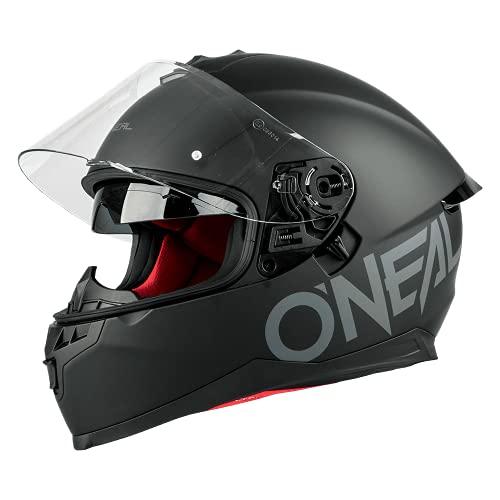 O'NEAL | Motorradhelm | Enduro Adventure Street | Sicherheitsnormen DOT und ECE 22.05, ABS-Schale, integrierte Sonnenblende | Challenger Helmet Flat | Erwachsene | Schwarz | Größe S