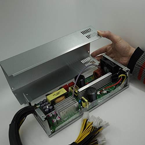 HETUI Fuente de alimentación de minería de 2000 W para Antminer S7 / S9 / L3 + / D3 / A4 portátil Bitcoin BTC Mining Machine Power (Plata)