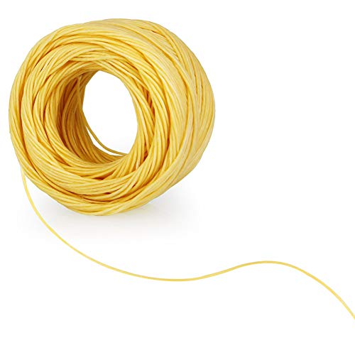 TANCUDER Hemp Wick Roll 200ft Spool Beeswax Hemp Candle Wick NaturalOrganic Hemp Wick Line Coating with Long Lasting and Slow Burn for Candle Making Candle DIY, 1mm, No Cotton & No Lead