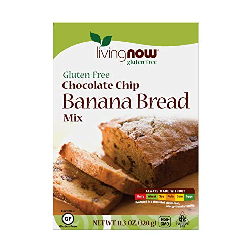 NOW Foods, Chocolate Chip Banana Bread Mix, Gluten-Free, No Added Flavors, Colors, Sweeteners or Hydrogenated Oils, 11.3-Ounce