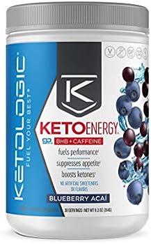 KetoLogic BHB Exogenous Ketones Pre-Workout Drink Powder