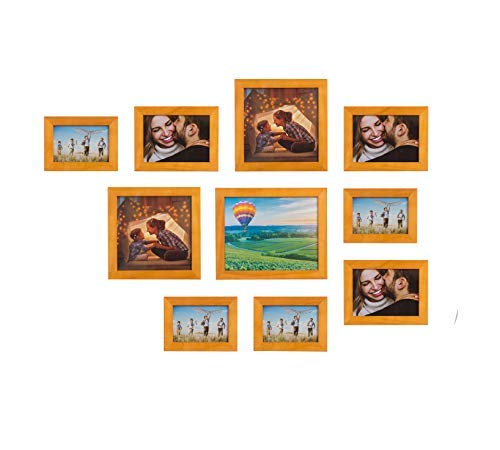 Home&Decoration Naturholz Bilderrahmen EIN Satz von Vier Verschiedenen Mengen und Größen Natürliche Holzfarbe (10 Stück)