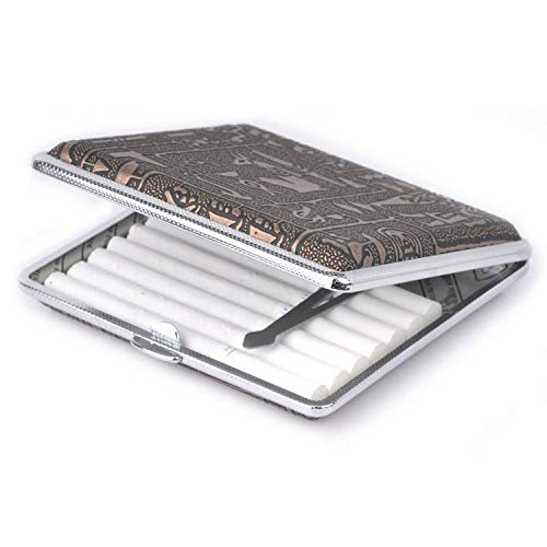 Xrten Pitillera Retro Caja de Cigarillo Metal para 20 Cigarrillo