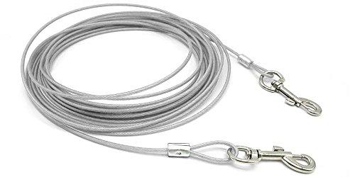 beirui Premium 10'/16/32'perro Cable Tie-Out–Heavy Duty perros correa cadena–perfecto mascotas plomo para tamaño pequeño y mediano tamaño