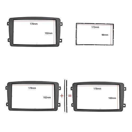 CCHAO 2Din - Panel de radio estéreo para coche para Mercedes BENZ C Clase W203 2002-2004 (tamaño: 173 x 98 mm)