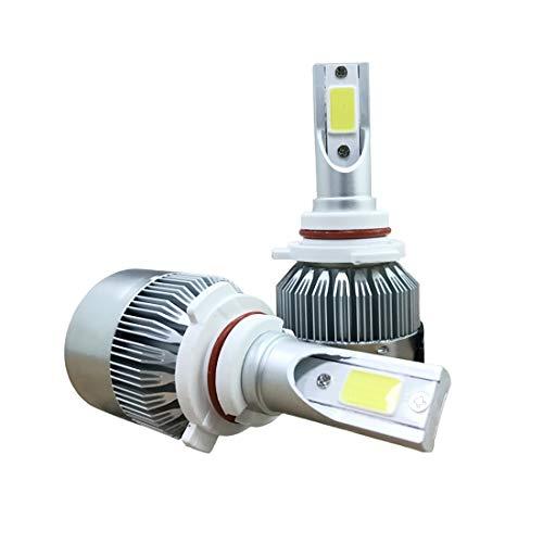 Wckxy Llevó la Linterna de los bulbos, 2 Piezas de C9 9006 18W 1800LM 6000K IP68 a Prueba de Agua del Coche LED Linterna Auto con 2 Bombillas LED, DC 9-36V (Color : White Light)