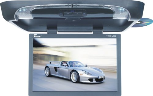 Tview T20DVFD-BK 20-Inch Flip Down Monitor with Built in DVD Player (Black)