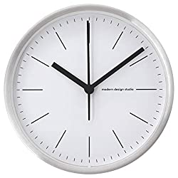 COMODO CASA Wall & Desk Clock- Metal Cooper Frame-Glass Cover-Non Ticking-Quartz Sweep-Silent 6 inch Classic Clock