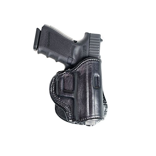 Paddle Leather Holster for Sig Sauer P228. Leather OWB Paddle with Adjustable Cant.