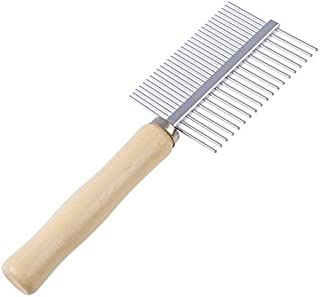 Pet Brush - 1 Piece Multi-Usage Dog Brush Stainless Steel Pet Grooming Steel Thick Hair Fur Shedding Remove Rake Comb Pet ...
