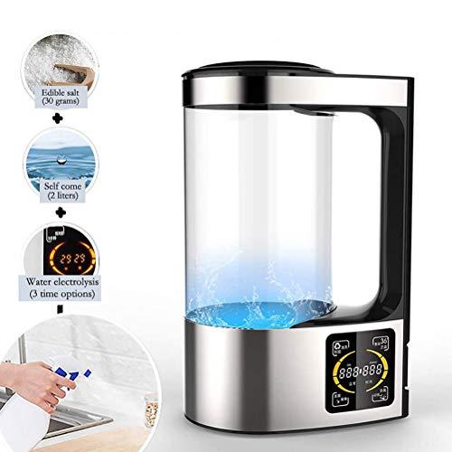 Uyuke 2000ml Physiologische Kochsalzlösung Selbstgemachte Maschine Selbstgemachte Reinigungsgeräte Elektrolytischer Salzwasser-Hersteller Desinfektionsflüssigkeitsmaschine für das Home Office