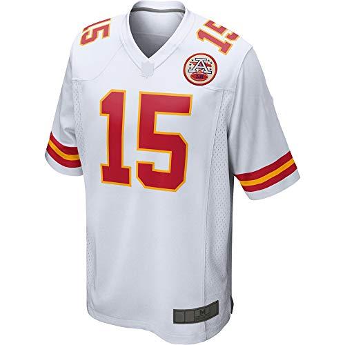 Camiseta de fútbol americano personalizado camisetas Patrick Kansas City # 15 Blanco, Mahomes Jefes Game Player Jersey de secado rápido ropa deportiva para hombres
