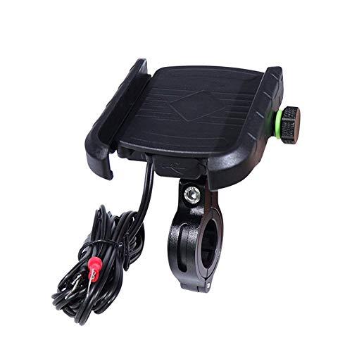 Dispositivos de soporte de teléfono de bicicleta Ajustable de plástico a prueba de golpes a prueba de golpes 360 grados Rotación libre USB Carga adecuada para teléfonos móviles 4-6.5 1 artículo SONG