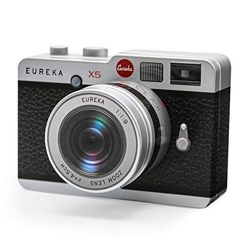 カメラ缶 ブラック 望遠レンズ クランチチョコ 5個入り