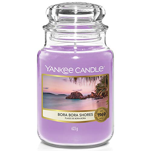 Yankee Candle Scented Candle | Bora Bora Shores Large Jar Candle | Burn Time: up to 150 Hours