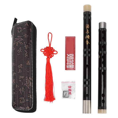 Bamboo Flute, Flutes - Musical Instrument No Air-leakage Pure Sound for Playing for Musical Instrument Lover(Key C)
