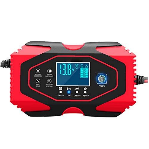 GGOOD Cargador de batería de Coche de 12V 24V automático Mantenedor de Mantener y Reparar con Pantalla LCD más Tipos de vehículos, Medios y Material de Baja tensión