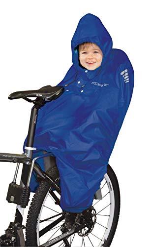 Kinder Poncho Regen Regenponcho Kindersitz Fahrrad Rad Regenschutz Schutz Blau