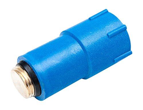 derClou24 BAUST Baustopfen blau mit Messing Gewinde und O-Ring selbstdichtendes Aussengewinde G 1/2 Zoll