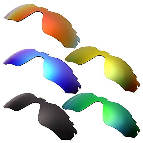 HKUCO Mens Replacement Lenses For Oakley Radar Edge Red/Blue/Black/24K Gold/Emerald Green Sunglasses