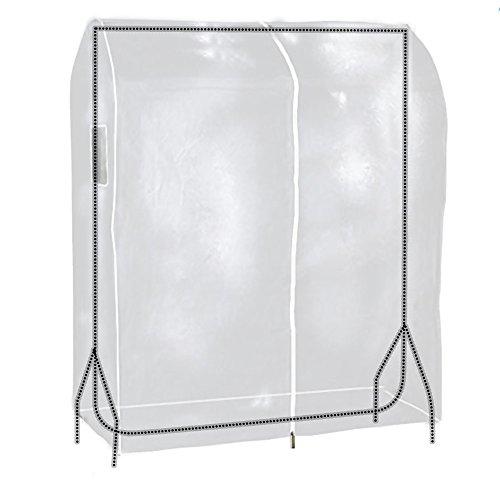 Hangerworld Funda 90cm para Perchero Cubierta para Burro Plástico Transparente Protege del Polvo