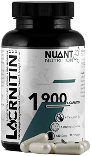 NUANT® – L-CARNITIN DUO | Mega Komplex mit Acetyl-L-Carnitin (1 x 120 Kapseln)