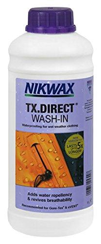 Nikwax ö TX Direct Imprägnierflüssigkeit, zum Einwaschen in Klamotten und Stoffe,Weiß, 1Liter