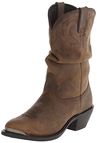 Durango Women's RD542 Slouch 11' Western Boot,Distressed Tan,8 M US